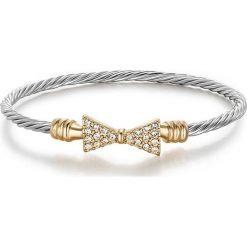 """Bransoletki damskie: Bransoletka """"Bowpeep Cable"""" z kryształkami Swarovski"""