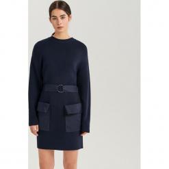 Sukienka mini ReDesign - Granatowy. Niebieskie sukienki mini marki Reserved, l. Za 299,99 zł.
