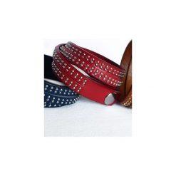 Bransoletka Blue Leather. Brązowe bransoletki damskie na nogę Moderntime, ze stali. Za 49,00 zł.