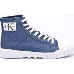 Calvin Klein Jeans - Trampki. Szare trampki męskie marki Calvin Klein Jeans, z jeansu, na sznurówki. W wyprzedaży za 359,90 zł.