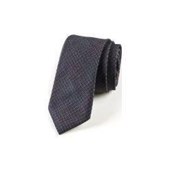 Krawat męski  GREY. Szare krawaty męskie HisOutfit, z materiału. Za 129,00 zł.