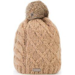 Czapka damska 87-HF-010-4. Czarne czapki zimowe damskie marki Wittchen. Za 89,00 zł.