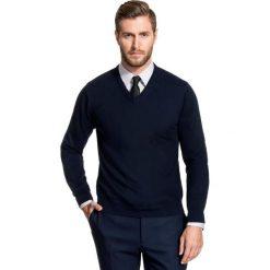 Sweter FABRIZIO SWGR000134. Białe swetry klasyczne męskie marki Giacomo Conti, na jesień, m, z bawełny, z klasycznym kołnierzykiem. Za 149,00 zł.