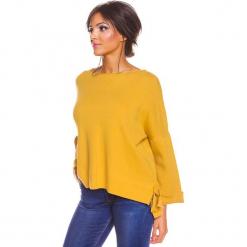 """Sweter """"Sonia"""" w kolorze musztardowym. Żółte swetry oversize damskie marki So Cachemire, s, z kaszmiru. W wyprzedaży za 173,95 zł."""