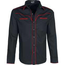 Banned Alternative Plain Trim Koszula czarny/czerwony. Czerwone koszule męskie na spinki marki Cropp, l. Za 184,90 zł.