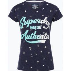 T-shirty damskie: Superdry – T-shirt damski, niebieski