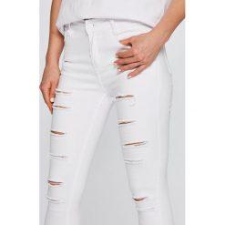 Answear - Jeansy. Białe rurki damskie marki ANSWEAR, z bawełny. W wyprzedaży za 69,90 zł.