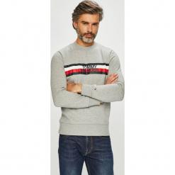 Tommy Hilfiger - Bluza. Szare bluzy męskie rozpinane marki TOMMY HILFIGER, l, z nadrukiem, z bawełny, bez kaptura. Za 449,90 zł.