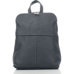 BEVERLY skórzany plecak damski Szary. Czarne plecaki damskie marki Abruzzo, ze skóry. Za 129,00 zł.