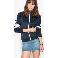 Sportowa bluza 10-16 lat. Szare bluzy dziewczęce rozpinane La Redoute Collections, z elastanu, z długim rękawem, długie. Za 113,36 zł.