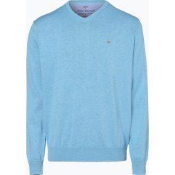 Fynch Hatton - Sweter męski, niebieski. Niebieskie swetry klasyczne męskie Fynch-Hatton, l, z bawełny. Za 249,95 zł.