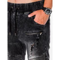 SPODNIE MĘSKIE JOGGERY P675 - CZARNE. Czarne joggery męskie Ombre Clothing, z bawełny. Za 89,00 zł.
