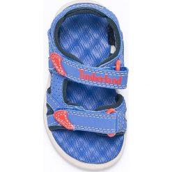 Timberland - Sandały dziecięce Perkins Row 2-Strap. Szare sandały chłopięce Timberland, z materiału. W wyprzedaży za 149,90 zł.
