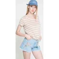 Vero Moda - Top. Niebieskie topy damskie marki Vero Moda, z bawełny. W wyprzedaży za 19,90 zł.