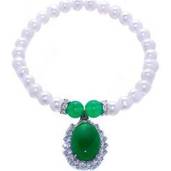 Bransoletki damskie na nogę: Bransoletka z perłami, cyrkoniami i kamieniami