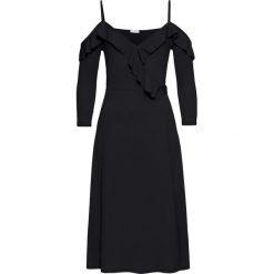 Sukienki hiszpanki: Sukienka kopertowa z falbanami bonprix czarny