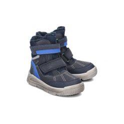 Superfit Mars - Śniegowce Dziecięce  rozmiar 25. Brązowe buty zimowe chłopięce Superfit, z gore-texu, z okrągłym noskiem, na rzepy. Za 319,00 zł.