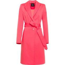 Płaszcz. Czerwone płaszcze damskie Simple, l, w paski. Za 259,90 zł.