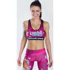 Biustonosze sportowe: Ground Game Sportswear Stanik Koi różowy r. S (TOPS)