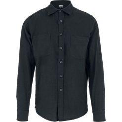 Urban Classics Checked Flannel Shirt Koszula czarny. Białe koszule męskie na spinki marki bonprix, z klasycznym kołnierzykiem, z długim rękawem. Za 121,90 zł.