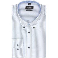 Koszule męskie na spinki: koszula trent 2188 długi rękaw custom fit biały