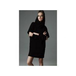 Sukienka Holey Freak - czarna. Czarne sukienki dzianinowe marki Madnezz, m, z aplikacjami, z kapturem. Za 289,00 zł.