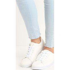Białe Buty Sportowe Relaxation. Białe buty sportowe damskie marki Born2be, z materiału. Za 59,99 zł.