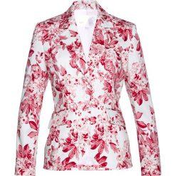 Marynarki i żakiety damskie: Żakiet bonprix różowy hibiskus z nadrukiem
