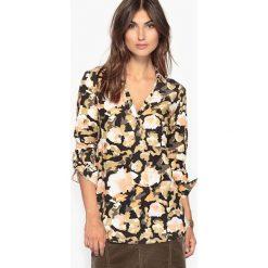 Bluzki asymetryczne: Bluzka z wiskozy z nadrukiem