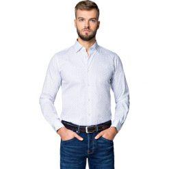 Koszula Biała w Kwiatki Flow. Białe koszule męskie jeansowe LANCERTO, m, z haftami. Za 299,90 zł.