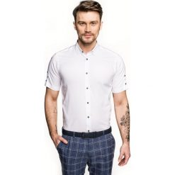 Koszula bexley 2488/4 krótki rękaw custom fit biały. Białe koszule męskie Recman, m, z krótkim rękawem. Za 139,00 zł.