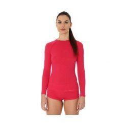 T-shirty damskie: Brubeck Koszulka damska active wool malinowa r. S (LS12810)