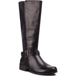 Kozaki CAPRICE - 9-25500-21 Black Nappa 022. Czarne buty zimowe damskie Caprice, z materiału, na obcasie. W wyprzedaży za 309,00 zł.