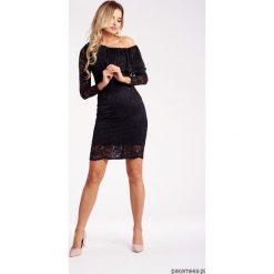 Sukienki balowe: Koronkowa sukienka z falbaną – black