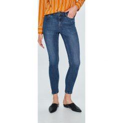 Vero Moda - Jeansy Zipper. Niebieskie jeansy damskie slim marki Vero Moda. W wyprzedaży za 89,90 zł.