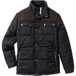 Kurtka zimowa ocieplana Regular Fit bonprix czarny. Czarne kurtki męskie zimowe marki bonprix. Za 239,99 zł.