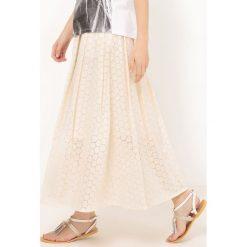 Długie spódnice: Długa spódnica z angielskim haftem