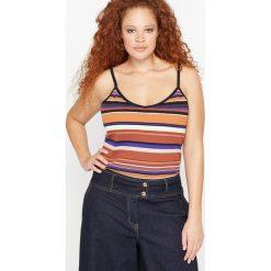 Bluzki damskie: Koszulka w paski na cienkich ramiączkach