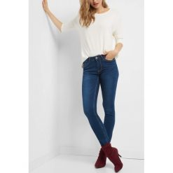 Jeansy skinny. Niebieskie jeansy damskie skinny marki Orsay, w paski, z bawełny. Za 89,99 zł.
