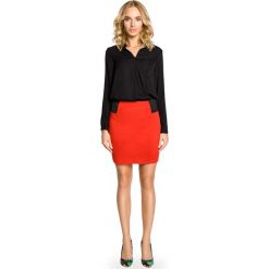 Spódniczki: Czerwona Dopasowana Spódnica Mini z Elastycznymi Wstawkami