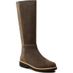 Kozaki CLARKS - Witcombeskygtx GORE-TEX 261273404 Taupe Nubuck. Czarne buty zimowe damskie marki Kazar, ze skóry, przed kolano, na wysokim obcasie, na obcasie. W wyprzedaży za 479,00 zł.