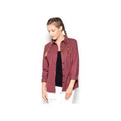 Koszula K241 Czerwony. Czerwone koszule damskie w kratkę marki Cropp, l. Za 89,00 zł.