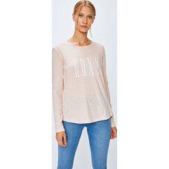 Roxy - Bluzka. Szare bluzki z odkrytymi ramionami Roxy, l, z nadrukiem, z bawełny, casualowe, z okrągłym kołnierzem. Za 99,90 zł.