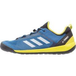 Adidas Performance TERREX SWIFT SOLO Obuwie hikingowe core blue/chalk white/unity lime. Niebieskie buty sportowe męskie adidas Performance, z materiału, outdoorowe. W wyprzedaży za 239,40 zł.