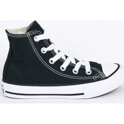 Converse - Trampki dziecięce. Szare buty sportowe dziewczęce marki Converse, z gumy, z okrągłym noskiem, na sznurówki. W wyprzedaży za 179,90 zł.