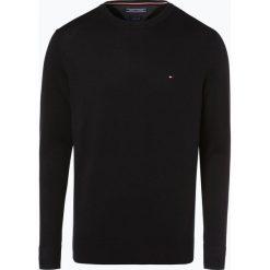 Swetry klasyczne męskie: Tommy Hilfiger – Sweter męski z dodatkiem jedwabiu, czarny