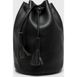 Answear - Torebka Heritage. Czarne torebki klasyczne damskie ANSWEAR, w paski, z materiału, średnie. W wyprzedaży za 59,90 zł.