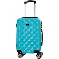 Walizka w kolorze niebieskim - 62 l. Niebieskie walizki Platinium, z materiału. W wyprzedaży za 219,95 zł.