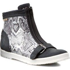 Botki A.J.F. - 00918 Szary 716/695. Niebieskie buty zimowe damskie A.J.F., z lakierowanej skóry. W wyprzedaży za 239,00 zł.