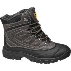 Trekkingowe buty męskie Highland Creek czarne. Czarne buty trekkingowe męskie Highland Creek, z materiału, na sznurówki. Za 159,90 zł.
